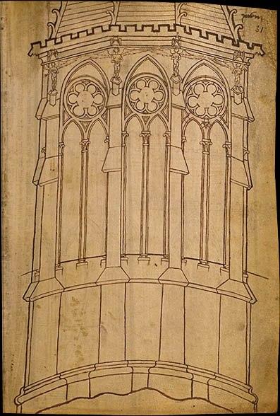 Альбом Виллара де Оннекура. Около 1235 г. Париж, Национальная библиотека Франции