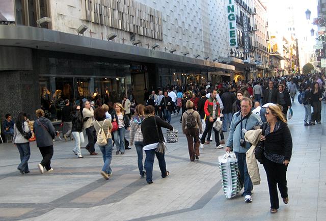 Пешеходная зона в Мадриде.