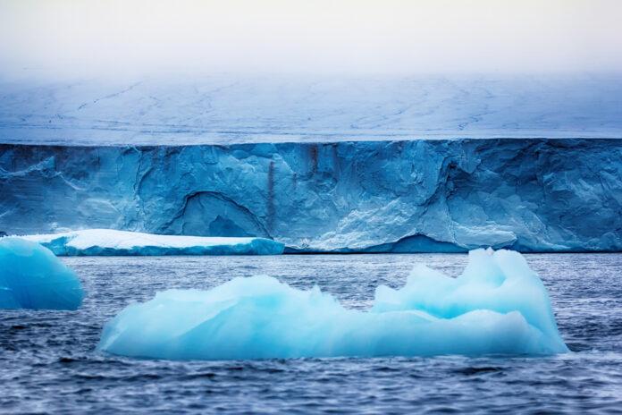 Стена льда. Остров Рудольфа, земля Франца-Иосифа.