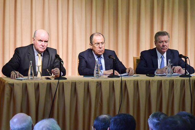 Встреча Министра иностранных дел С.В.Лаврова с представителями российских НКО внешнеполитической направленности, Москва, 17 марта 2017 года. источник: МИД России / flickr.com
