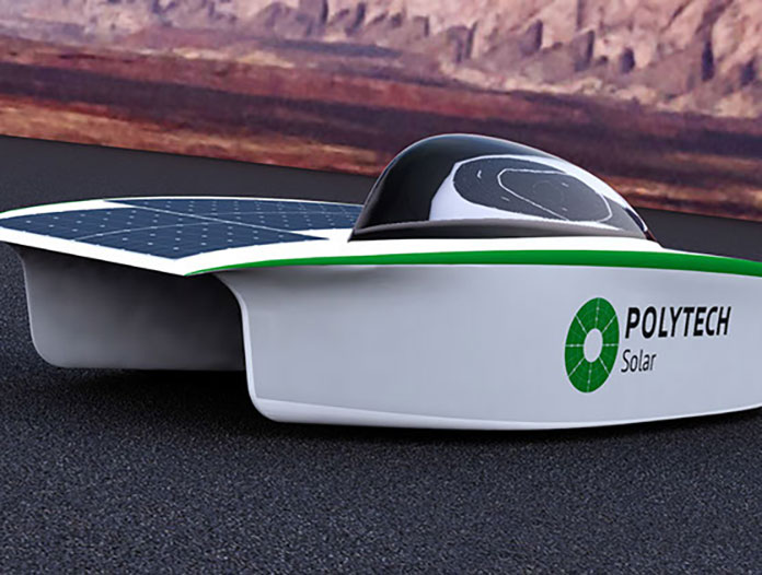 Модель электромобиля на солнечных батареях «Polytech Solar».