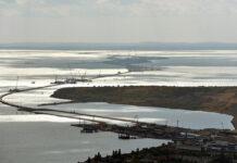 Строительство Крымского моста.