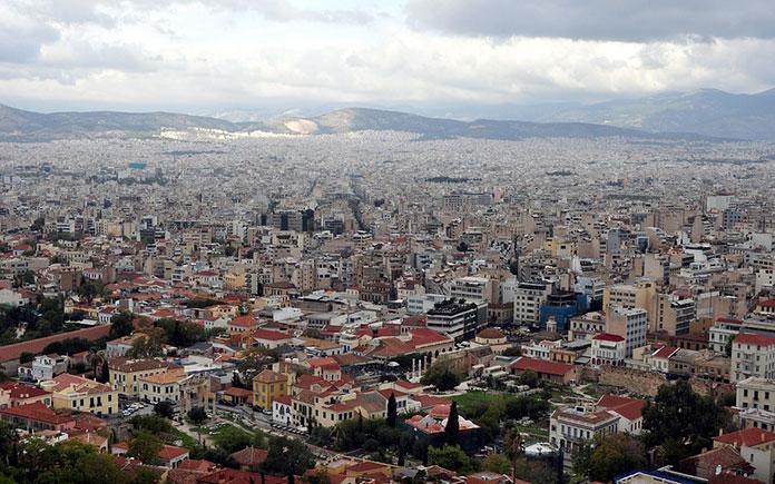 Вид на Афины.