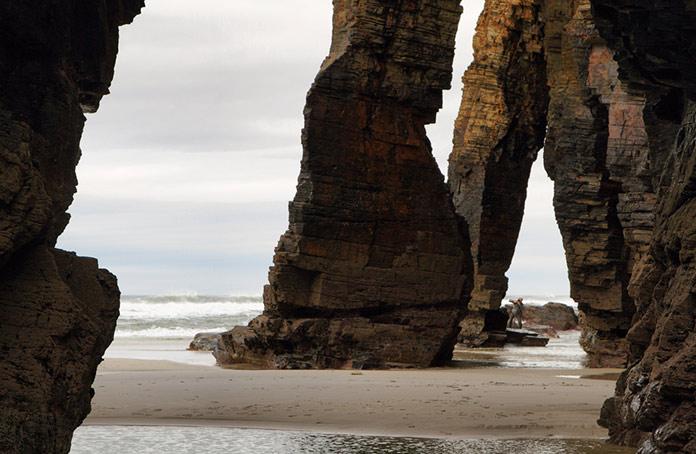 Пляж кафедральных соборов, Рибадео, Испания