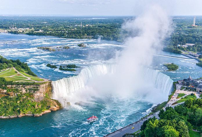Ниагарский Водопад с высоты птичьего полета,