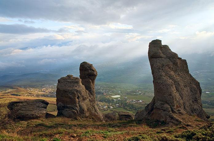 Долина Приведений. Гора Демерджи, Крым.