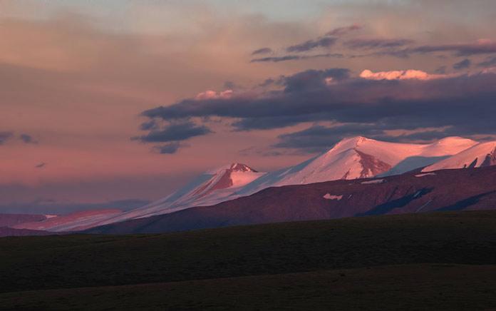 Высокогорный пейзаж, плато Укок, Горный Алтай, Россия