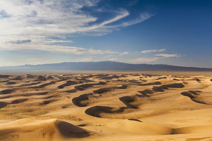 Дюны пустыни Гоби, Монголия.