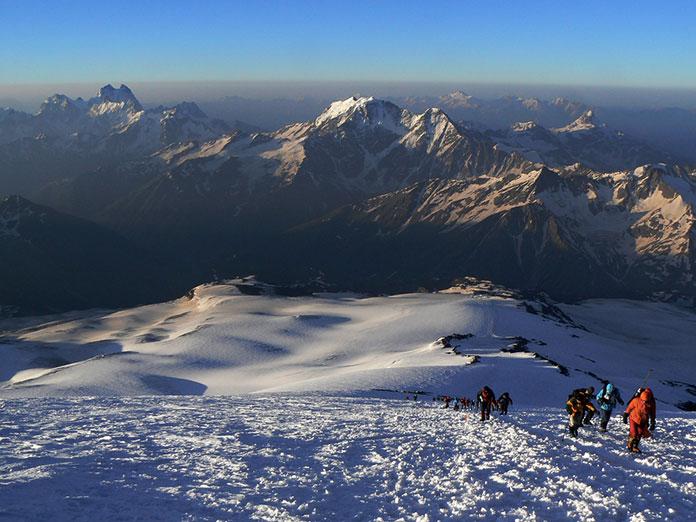Восхождение на Эльбрус, Кавказ.