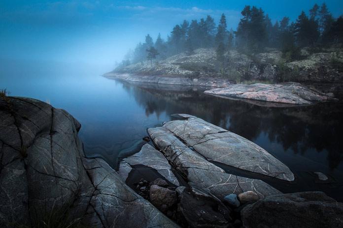 Ладожское озеро. Карелия.