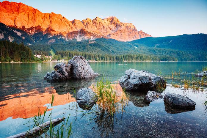 озеро эйбзе, альпы