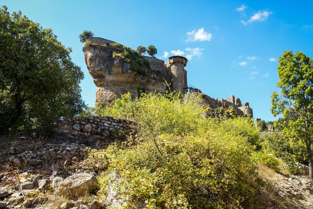 Руины замка в Тарнском ущелье