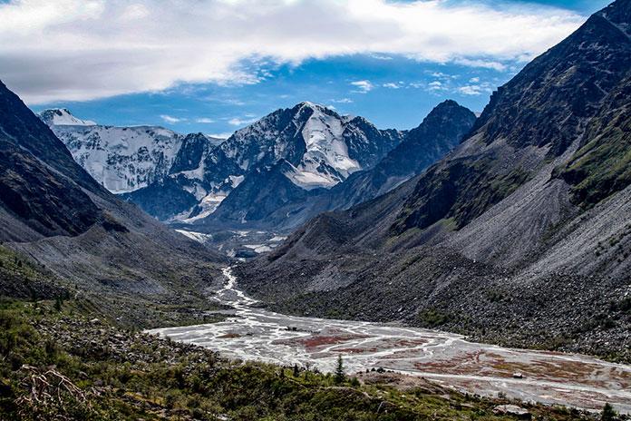 ека Аккем и ледники горы Белуха