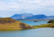 Озеро Мюватн, Исландия.