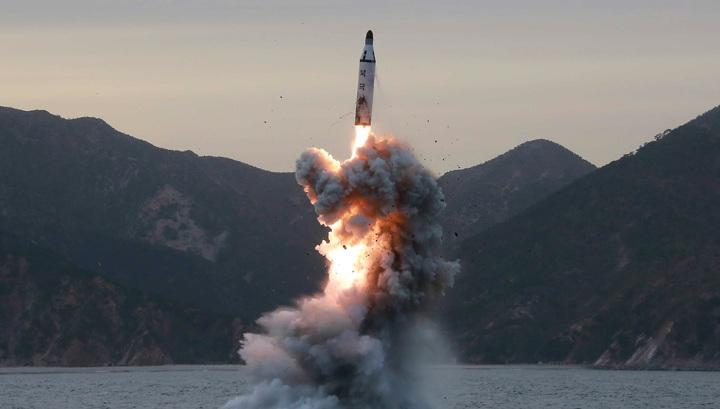 Запуск северокорейской ракеты