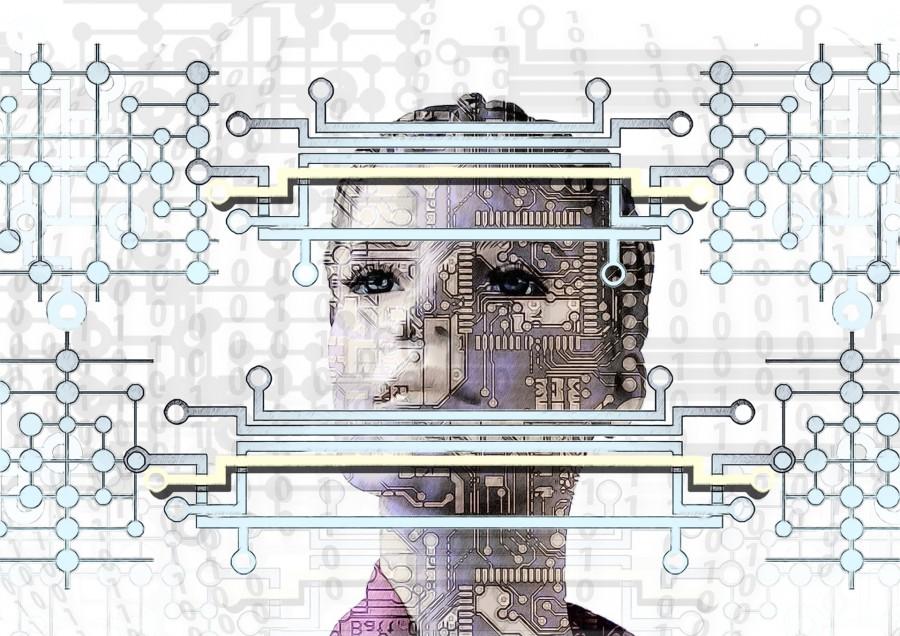 робот, искусственный интеллект, микросхема, код