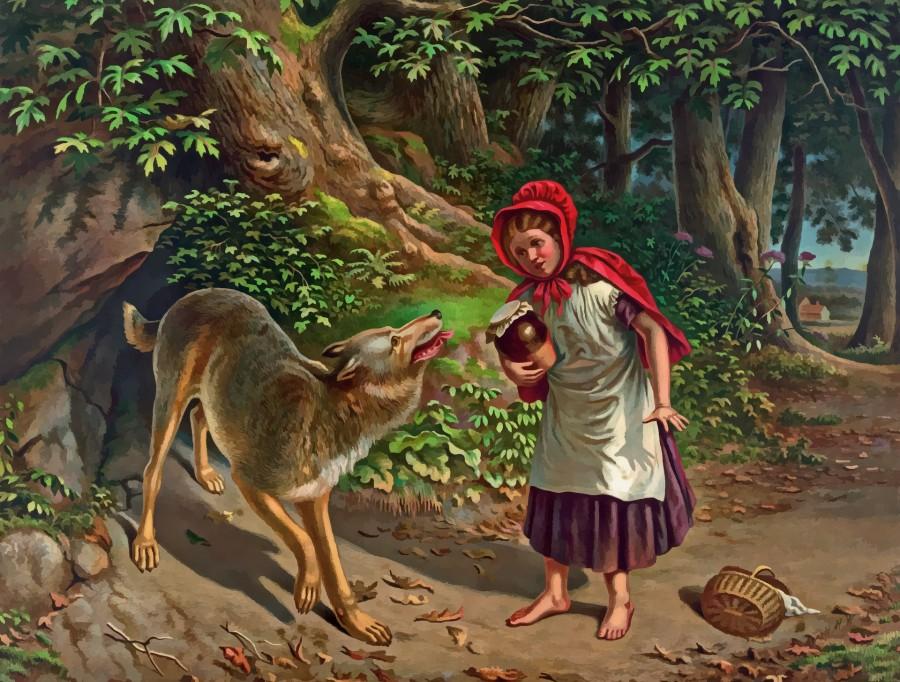 Красная Шапочка, волк