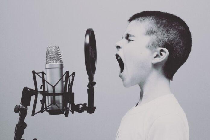 микрофон, радио, мальчик, ребенок