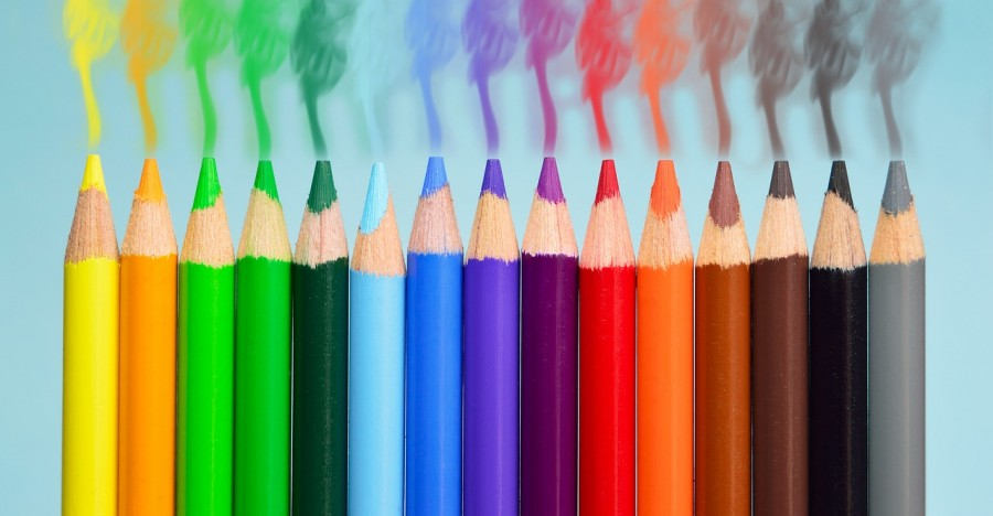 карандаши, цвет, спектр, оттенки