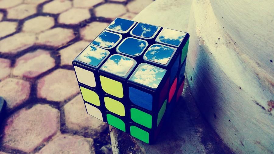 кубик Рубика, небо
