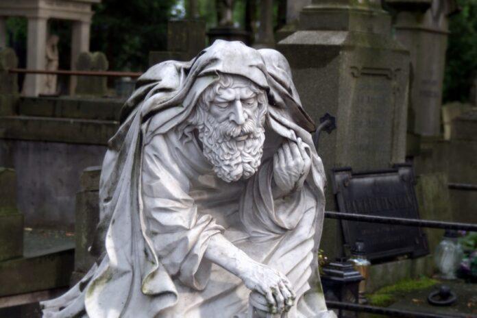 старик, памятник