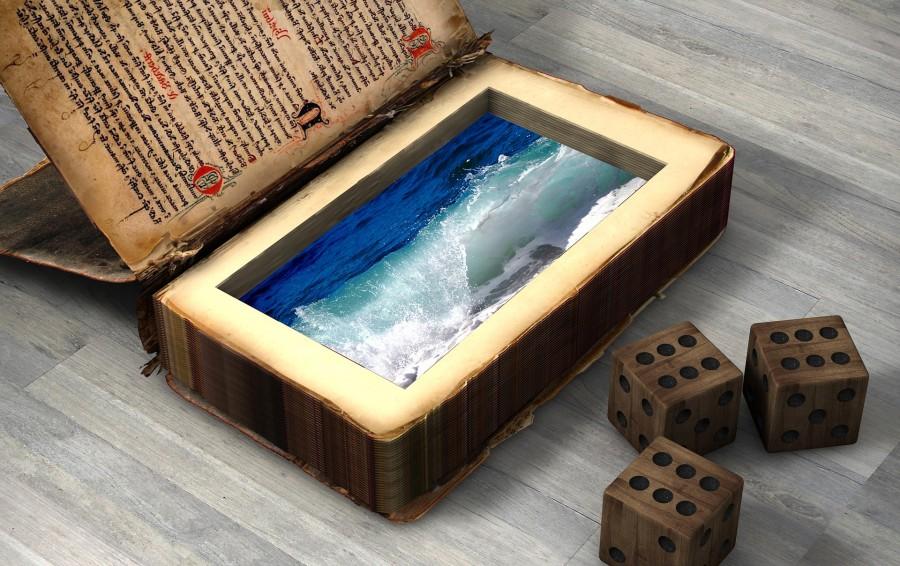 книга, вода, волны