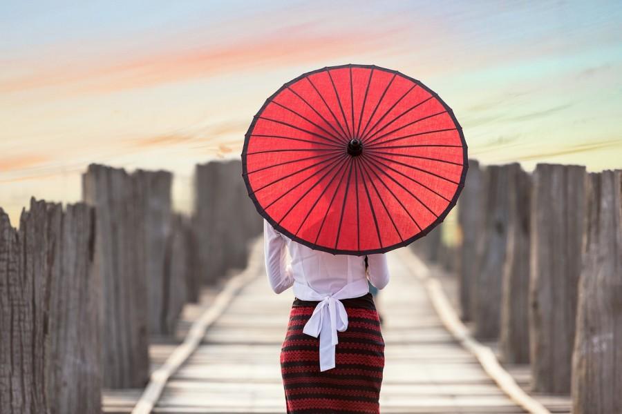 Япония, традиция, зонт