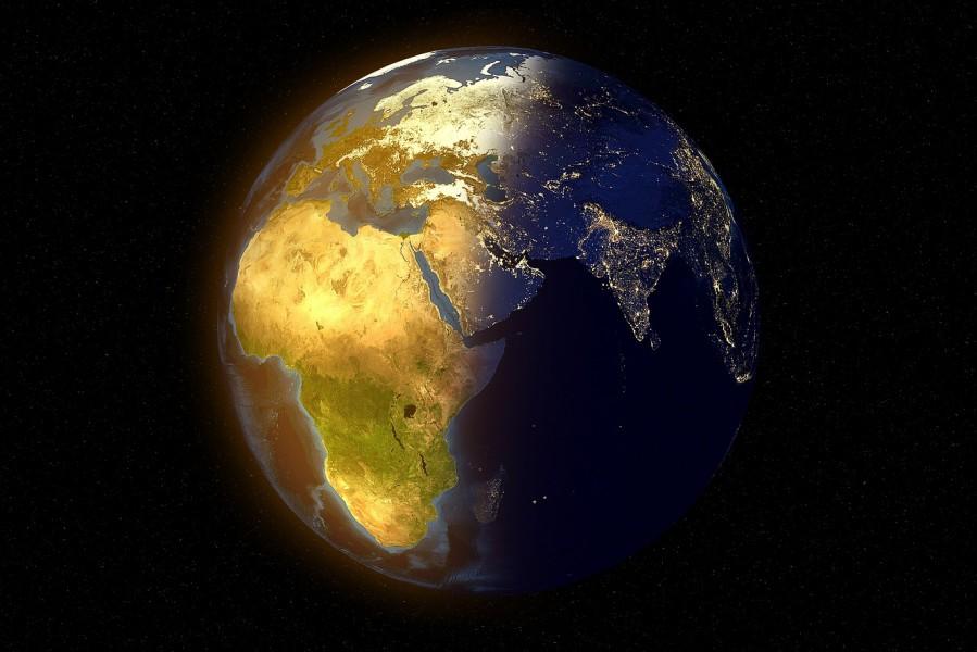 земля, планета, день, ночь