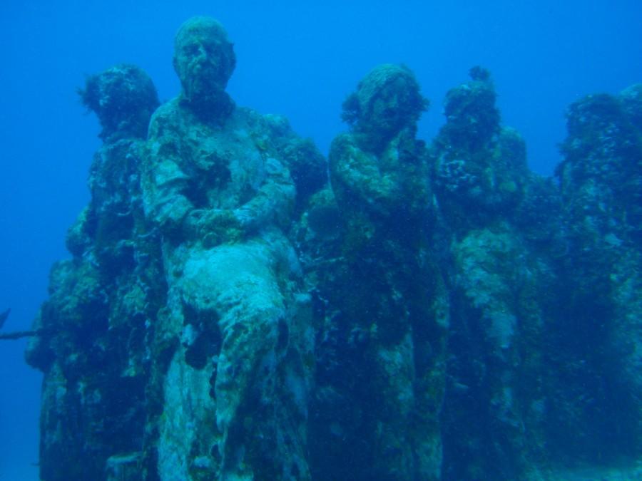 подводный музей, скульптуры