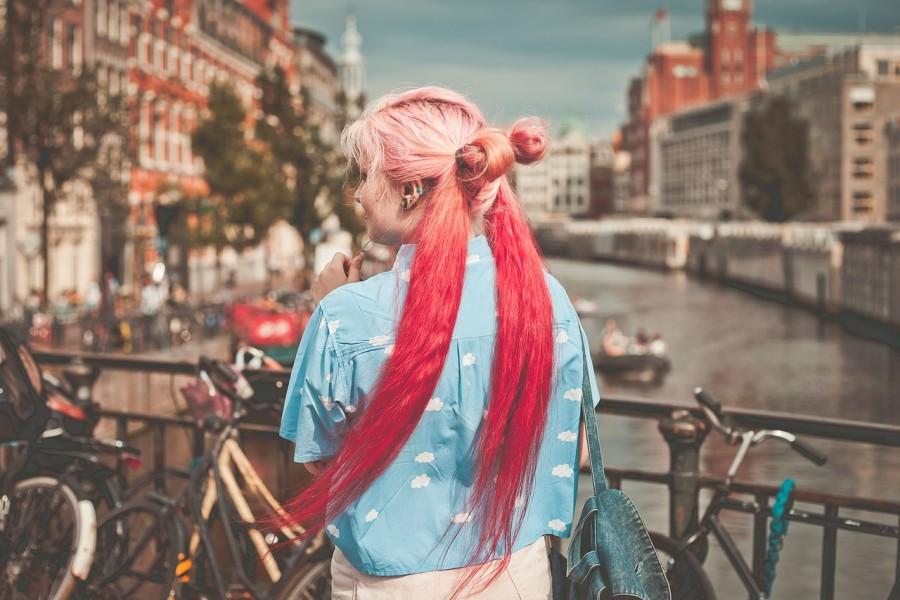 девушка, город, мода