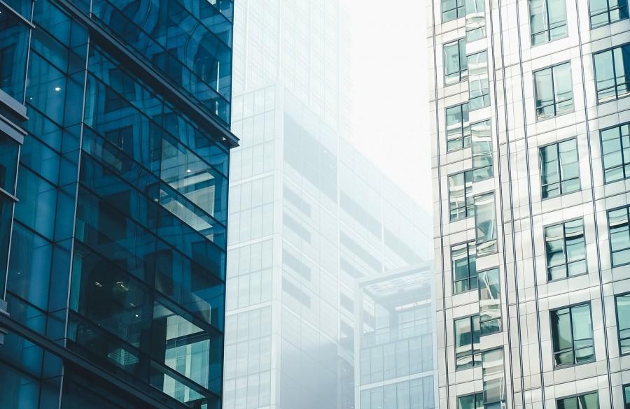 здание, современность, город, окна