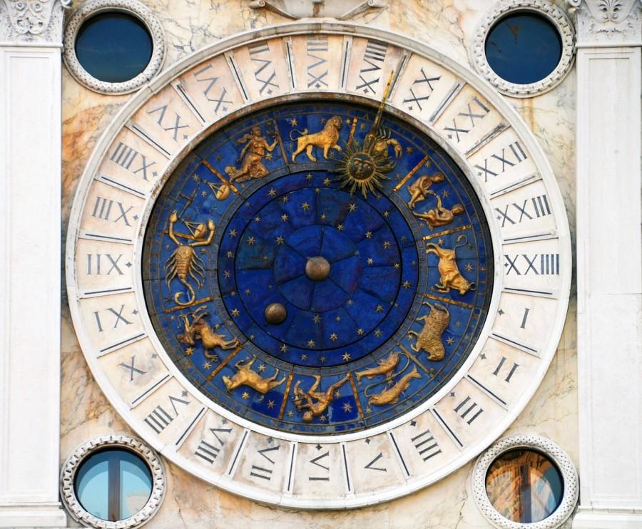 зодиак, часы, астрология