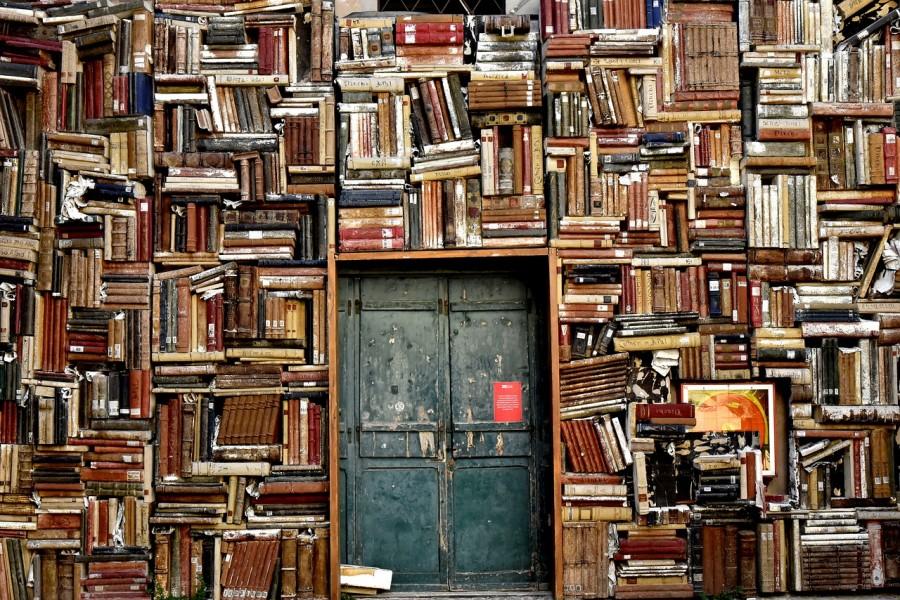 книги, знания, библиотека, дверь