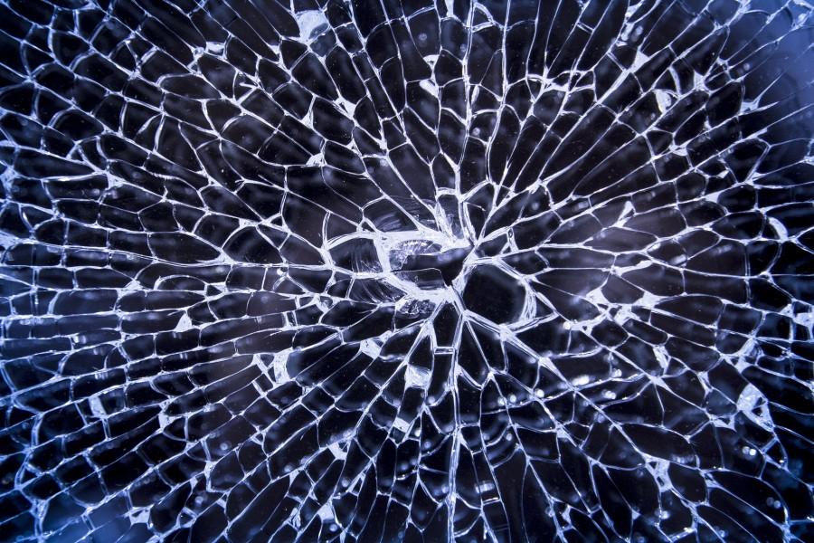 битое стекло, экран, разбит
