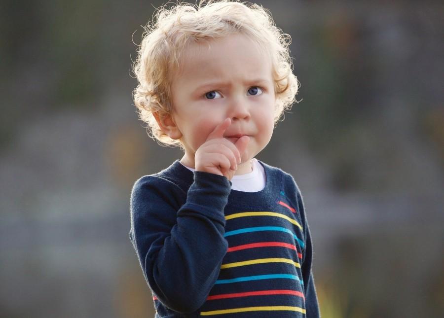 ребенок, задумчивый, мысль