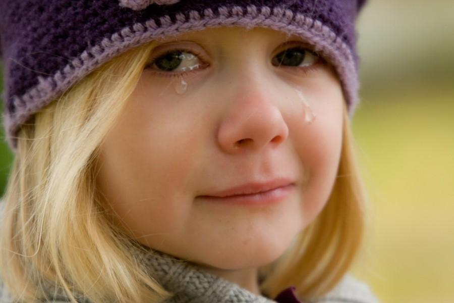 девочка, ребенок, плач, слезы
