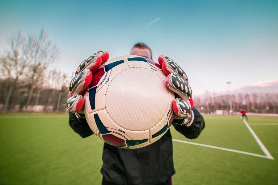 футбол, мужчина, мяч, руки