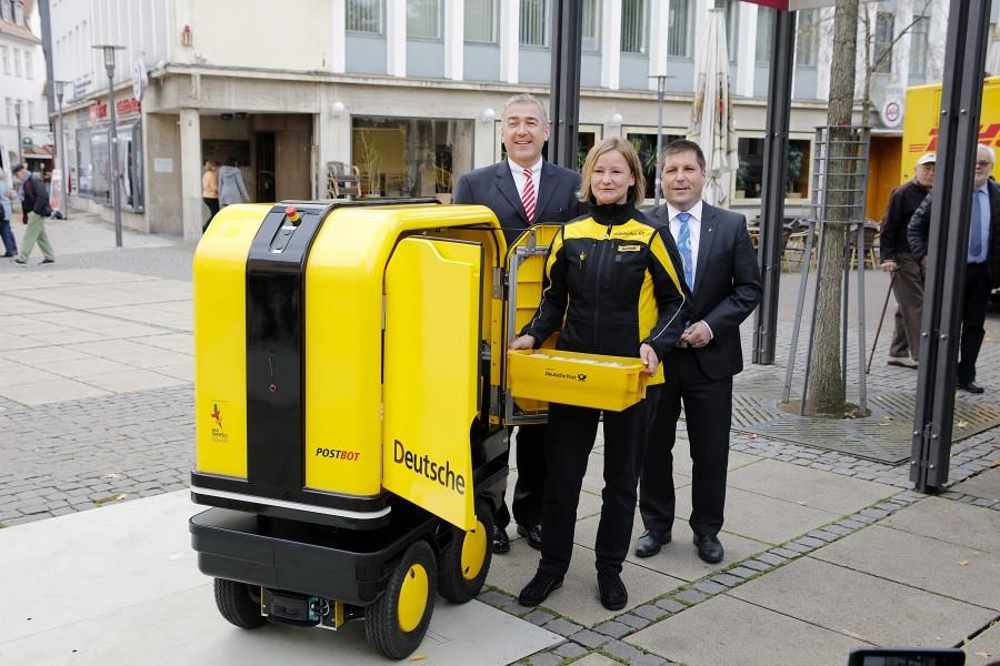 dhl, почта, германия, робот