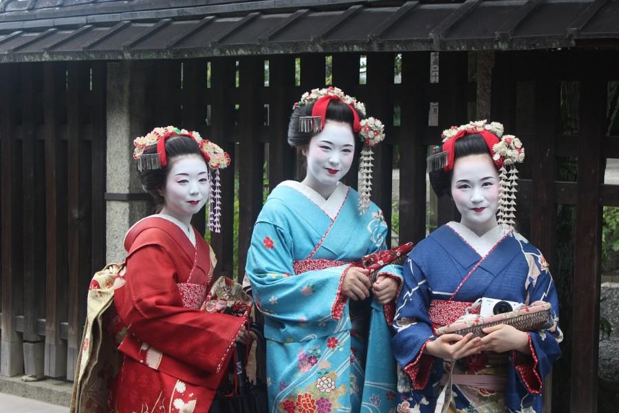Гейша, япония, макияж, женщины