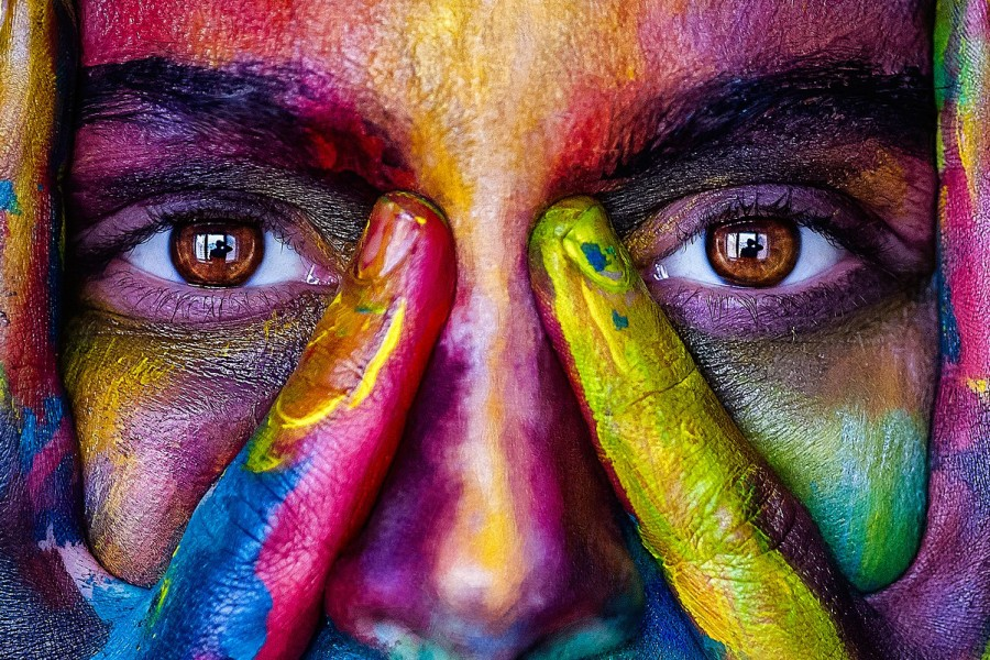 глаза, краски, взгляд