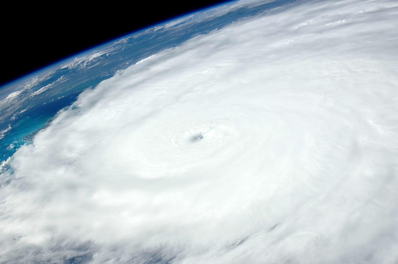 атмосфера, ураган, облака