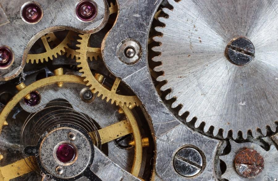 шестеренка, часы, механизм