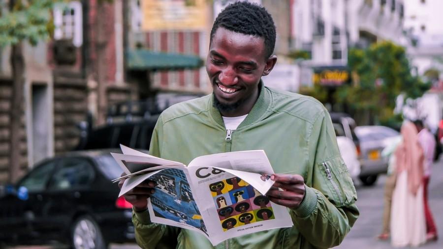 африканец, негр, улыбка