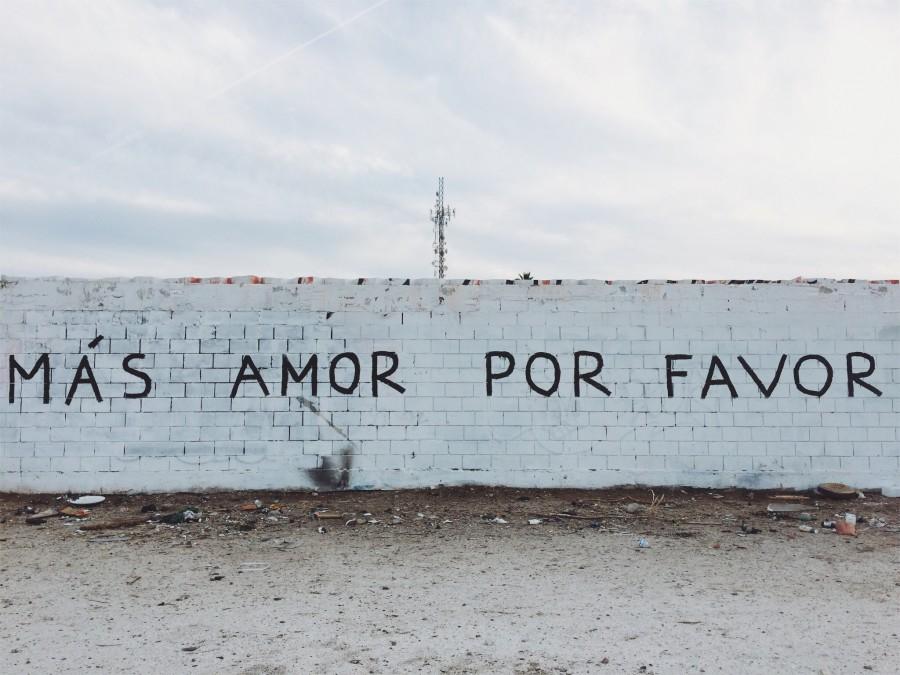стена, надпись, язык