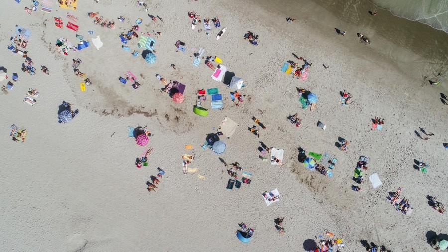 загар, пляж, люди