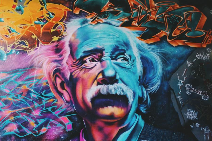 граффити, Эйнштейн, наука