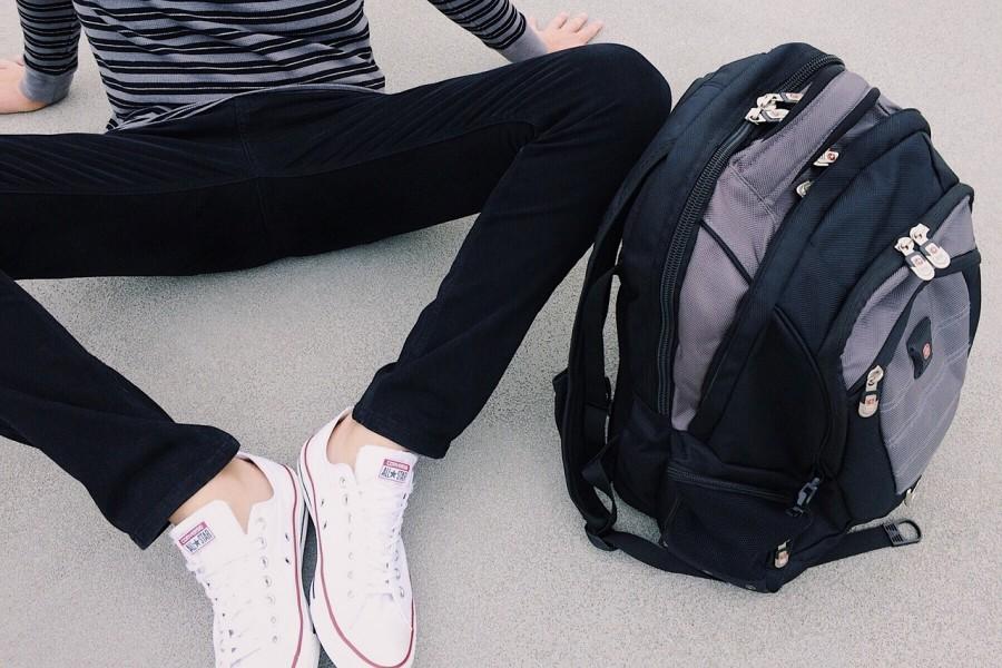 школьник, рюкзак, ноги, подросток