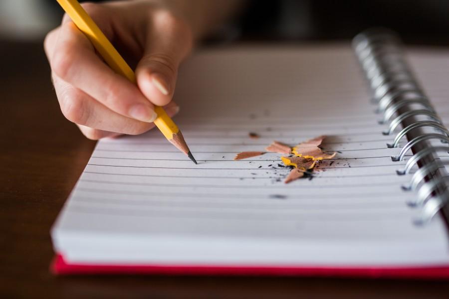 письмо, учеба, рука