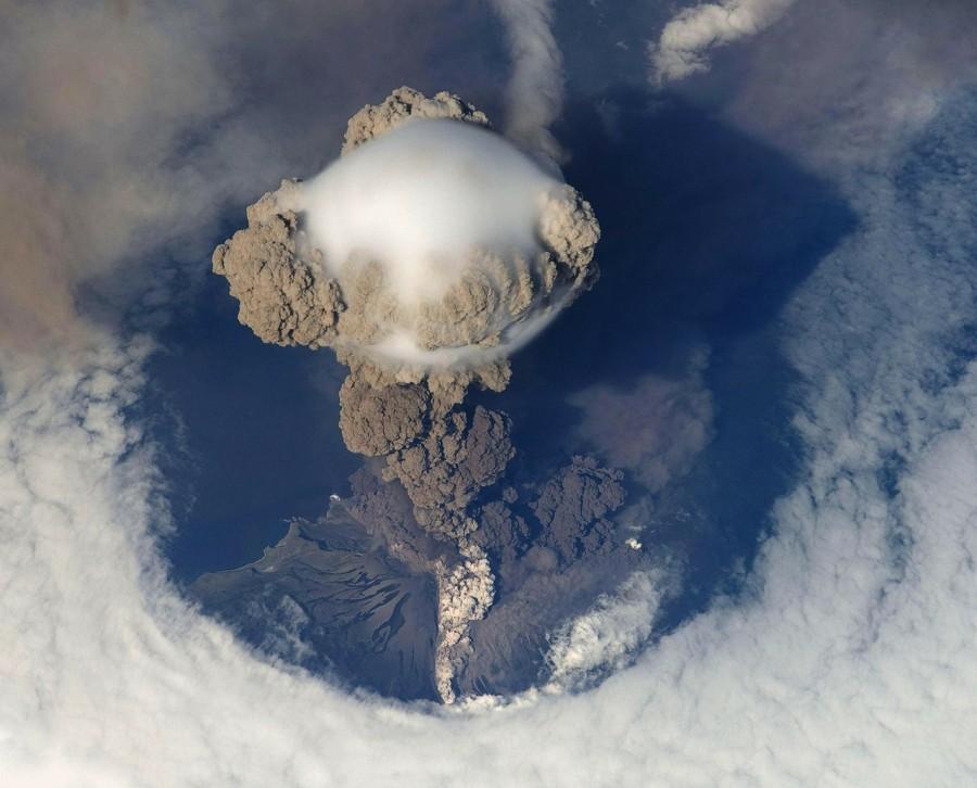 вулкан, извержение