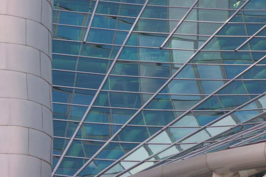 модернизм, здание, окна